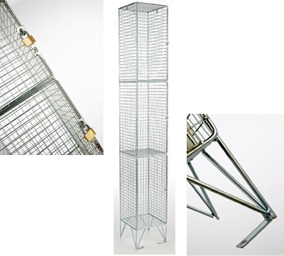 3 Door Mesh Locker