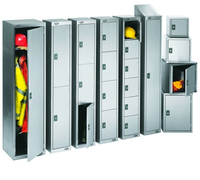 2 Door Stainless Steel Lockers
