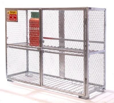 Galvanised Cylinder Storage Cage