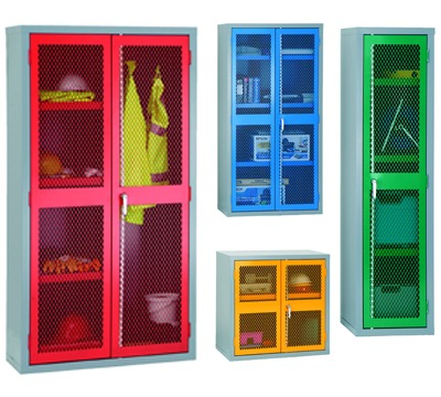 Mesh Door Cupboards
