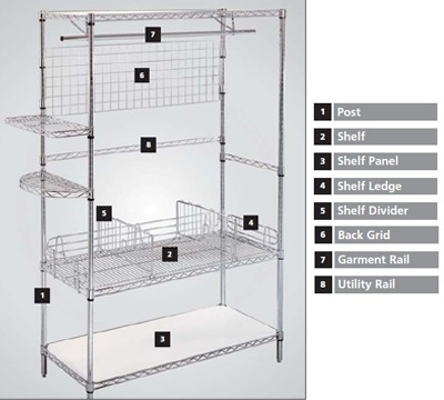 Eclipse Chrome Wire Shelving Accessories
