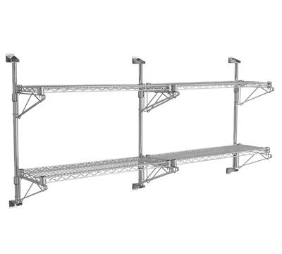 Wall Mounted Wire Shelf | Wall Mounted Chrome Wire Shelving Richardsons Shelving Racking