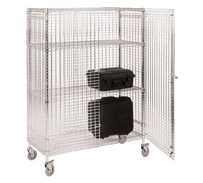 Eclipse Chrome Wire Security Cages Richardsons Shelving