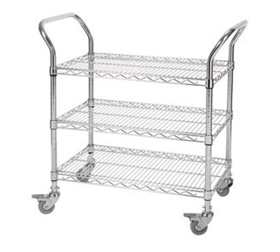 All Purpose Chrome Wire Trolleys