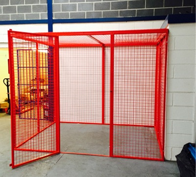 Walk In Mesh Box Cages Richardsons Shelving Racking Storage Lockers Steps And Platforms