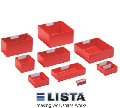 Red Lista Plastic Boxes Richardsons Shelving Racking