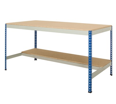 Rivet Workbench with Half Undershelf
