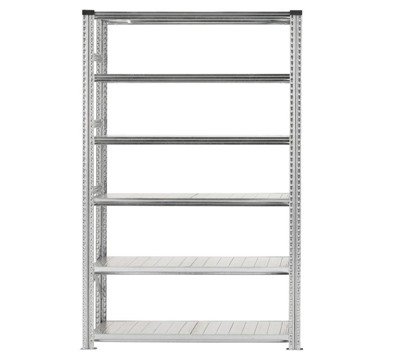 Galvanised Wide Span Shelving Bays 1200mm wide with 6 levels