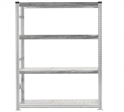 Galvanised Wide Span Shelving Bays 1500mm wide with 4 levels