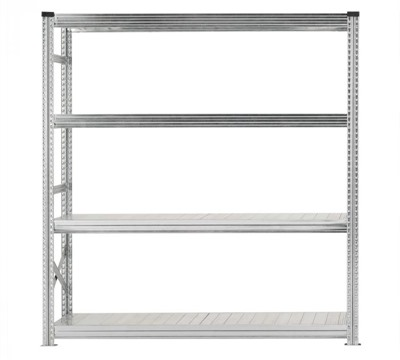 Galvanised Wide Span Shelving Bays 1800mm wide with 4 levels