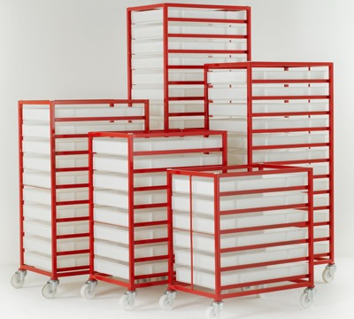 Mobile Tray Rack with Confectionery Tray