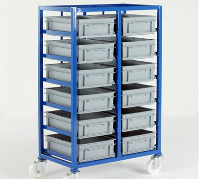 Small Parts Storage Tray Rack with Euro Containers