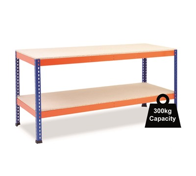 Rapid 1 Workbenches with Full Shelf