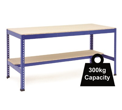 Rapid 1 Workbenches with 1 Half Shelf