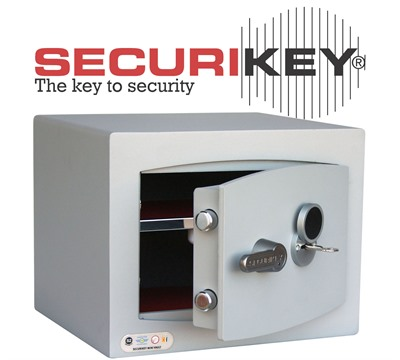 Securikey Mini Vault Silver Key Locking Safe