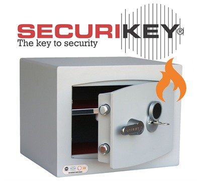 Securikey Fire Resistant Mini Vault Gold Key Locking Safe
