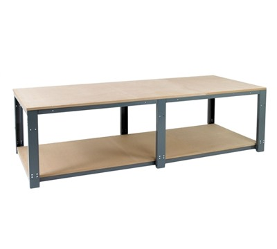 Modular Add on Benches with Lower Shelf
