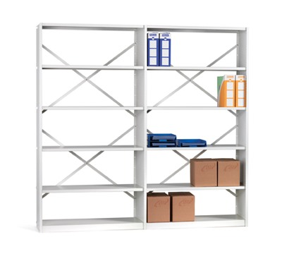 Ikon Shelving Open 6 Shelves 400mm Deep