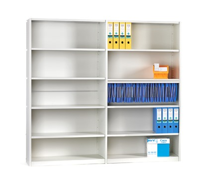 Ikon Shelving Clad 6 Shelves 400mm Deep