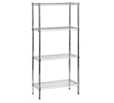 Eclipse Chrome Wire Shelving 355mm Deep