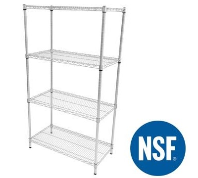 Eclipse Perma Plus Wire Shelving for use in Hygienic Areas 460mm Deep
