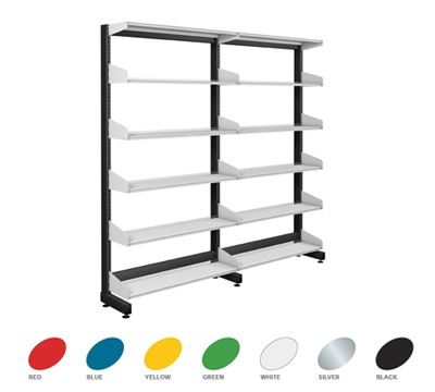 Single Sided Technic Library Shelving 1800mm Height