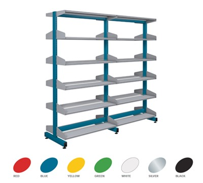 Double Sided Technic Library Shelving 1200mm Height