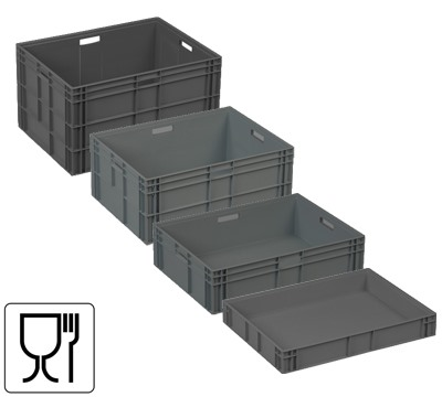 800mm x 600mm Allibert Euro Containers Richardsons Shelving