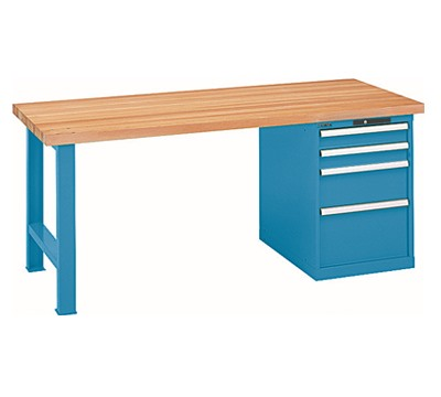 Lista Workbench With 4 Drawer Cabinet