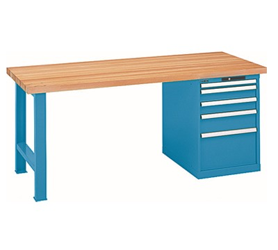 Lista Workbench With 5 Drawer Cabinet