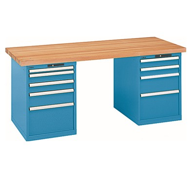 Lista Workbench With 1 x 5 Drawer Cabinet and 1 x 4 Drawer Cabinet