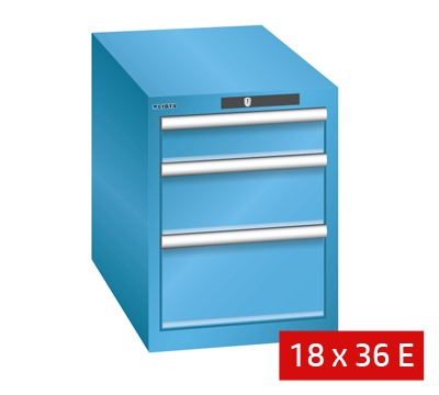 Lista Drawer Cabinets 411mm W X 725mm D 75kg