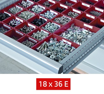 Lista Drawer Partitions to fit 411mm W x 725mm D