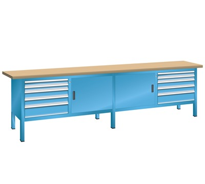 Lista Compact Workbench 2500mm W x 700mm D