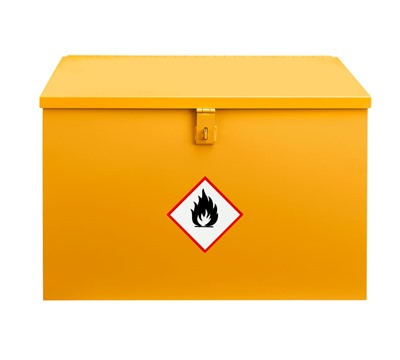 Yellow Flammable Flat Top Bins