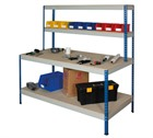 Rivet Workstation with Full Undershelf