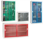 Mesh Door Cupboards with Sliding Doors