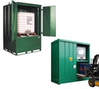 Fully Enclosed Secure Drum Or IBC Storage