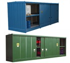 Large Fully Enclosed Secure Drum Or IBC Storage