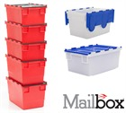 Mailbox Stack and Nest Attached Lid Containers