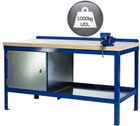 Heavy Duty Workbench with a Wooden Top