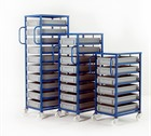 Blue Tray Rack with Euro Containers
