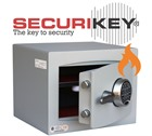 Securikey Fire Resistant Mini Vault Gold Electronic Locking Safe