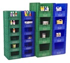 Large Open Front Stacking Containers