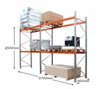 AR Pallet Racking 2 Bay Kit: 2500h x 2700w x 900d