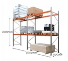 AR Pallet Racking 2 Bay Kit: 3000h x 2700w x 1100d