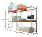 AR Pallet Racking 2 Bay Kit: 3500h x 2700w x 900d