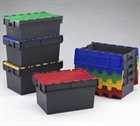 Heavy Duty Totebox Attached Lid Containers