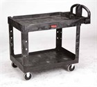 Heavy-Duty Utility Carts Lipped Shelves
