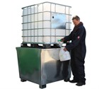 Galvanised Steel IBC Spill Pallets